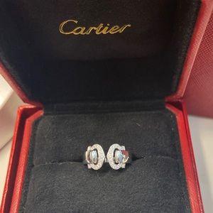 Cartier C de Cartier Logo 2C Diamond Paved Ring